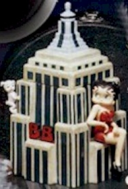 Betty Boop on Empire State Building Cookie Jar  - Product Image