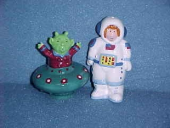 Martian and Spaceman.  Made by Fitz & Floyd/Omnibus. - Product Image