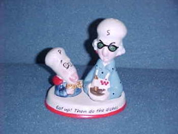 Maxine Salt & Pepper Shakers.  Made by Hallmark. - Product Image