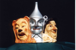 Wizard of Oz - 3 headed Cookie Jar  The Cowardly Lion, The Tin Man, and The Scarecrow - Product Image