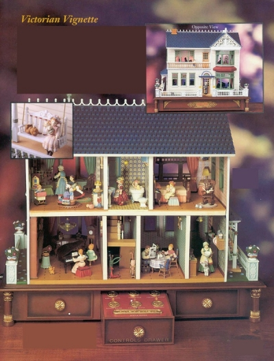 Victorian Vignette Miniature Doll House - Product Image
